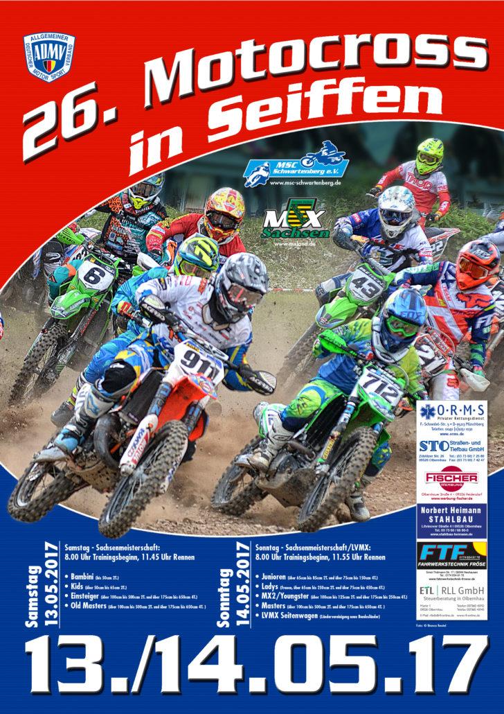 Motocross Seiffen Plakat 2017